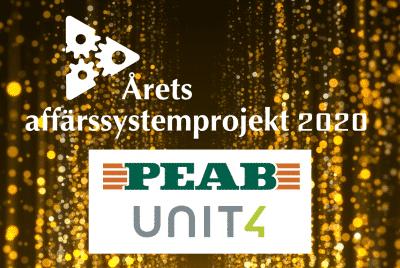 Unit4 vinner utmärkelsen Årets Affärssystemprojekt 2020